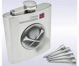 GOLFERS HIP FLASK SET