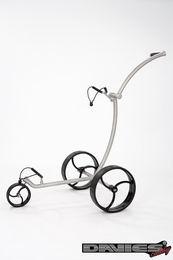 Ruèní golfový vozík Davies Caddy Compact BRUSH SILVER Matt