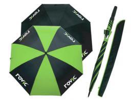 Deštník ROVIC èerná/limetka 68