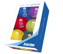 KEEP CALM GOLF BALLS 6PK