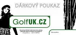 Dárkový poukaz GolfUK.cz
