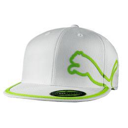 Puma Monolite Dry Junior Cap - bílá/zelená
