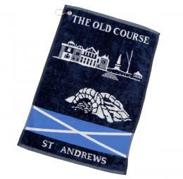 ST.ANDREWS SWILKEN BRIDGE SALTIRE WOVEN TOWEL