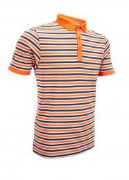 Callaway OD STRIPE Polo oranžová, Velikost M,XL