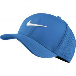 Nike Golf CLASSIC Fitted Perforated Cap Blue, Velikost  M/L