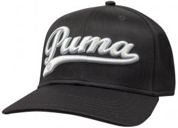 Puma Script City Cool Cell Relaxed Cap black- white