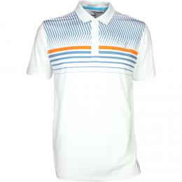 PUMA SS Surface Stripe Polo PC bright white, Velikost S,M,L