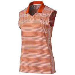 Puma W Dense Stripe Sleeveless Polo  cherry tomato, Velikost XS, XL