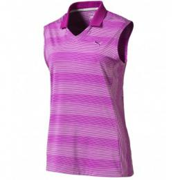 Puma W Dense Stripe Sleeveless Polo purple cactus flower, Velikost XS, S, L,,XL