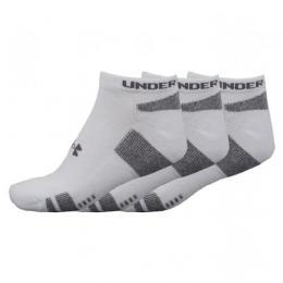 Under Armour HeatGear No Show 3-Pack pánské ponožky bílé velikost 40-46