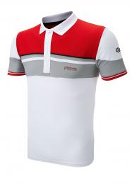 SUNDERLAND GOLF SHIRT RED/WHITE/GREY, Velikost L