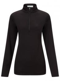Callaway Ladies Pullover Waffelfleece 1/4 Zip CAVIAR, Velikost M,L