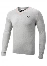 Puma Lux Cotton/Cashmere Golf Sweater  Light Grey, Velikost XXL