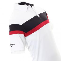 Callaway Golf Chest Block Shirt BRIGHT WHITE, Velikost S