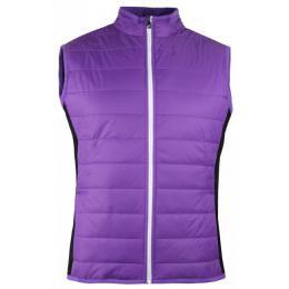 Ladies FootJoy Golf Puffer Hybrid Vest VIOLET/BLACK, Velikost XS,S