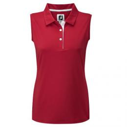 FootJoy Sleeveless Stretch Ladies Jersey Polo RED, Velikost S