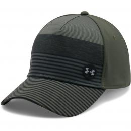 Under Armour Golf Striped Out Cap Downtown Green/Black/Steel, Velikost  M/L