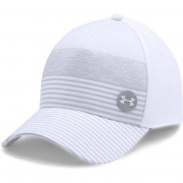 Under Armour Golf Striped Out Cap White/Overcast Grey, Velikost M/L, L/XL