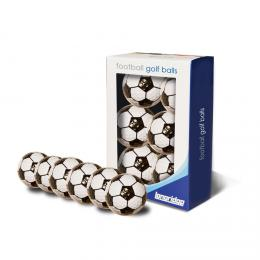 FOOTBALL GOLF BALLS - 6PK - BLACK/WHITE