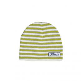 Titleist Womens Striped Fitted Beanie GREEN/WHITE/GREY
