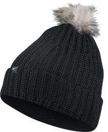 Nike Beanie Knit Pom Ladies BLACK - zvìtšit obrázek