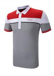 SUNDERLAND GOLF SHIRT RED/WHITE/GREY, Velikost M, L