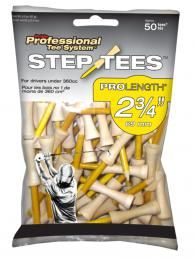Pride Professional Tee System (PTS) Step Tees, 50PK YELLOW 69 mm