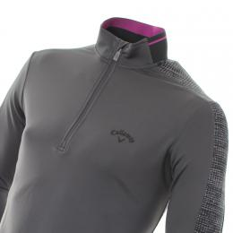 Callaway Golf Textured Print Thermal Pullover ASPHALT, velikost XL
