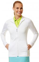 Callaway Ladies Pullover Waffelfleece Full Zip BRIGHT WHITE, Velikost M