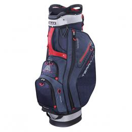 Big Max Terra X Cart Bag NAVY/SILVER/RED