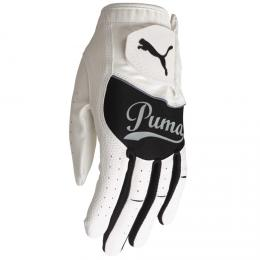PUMA Golf Script Junior Glove WHITE/BLACK, Velikost S, M, L