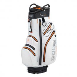 Big Max Aqua V-4 Cart Bag WHITE/BLACK/ORANGE
