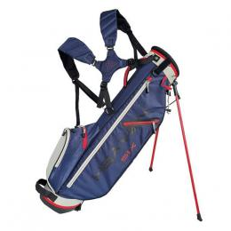 Big Max HEAVEN SIX Stand Bag NAVY/SILVER/RED