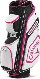 Callaway Chev 14+ Cart Bag White/Black/Pink 2020 - zvìtšit obrázek