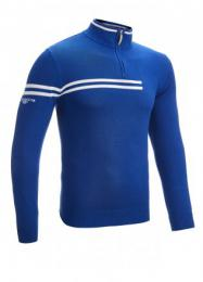 Glenmuir 1/4 Zip Neck Double Chest Stripe Golf Sweater BLUE, Velikost M, L