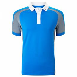 Callaway Junior polo 3 Colour Blocked BLUE/GREY/WHITE, Velikost M,