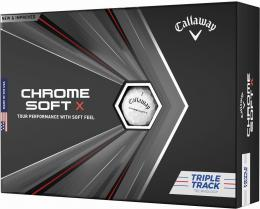 Callaway Chrome Soft X 2020 White TRIPLE TRACK