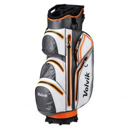 Volvik Waterproof Golf Cart Bag ORANGE/WHITE/GREY