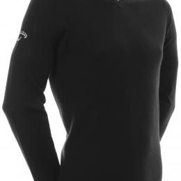 Callaway Ribbed Merino V-Neck Sweater 2020 BLACK velikost - XS, S, M, L, XL, XXL