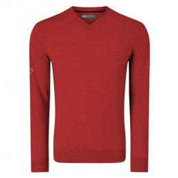 Callaway Ribbed Merino V-Neck Sweater 2020  TANGO RED velikost - S, M, L, XL, XXL