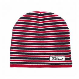 Titleist Striped Fitted Beanie pánská RED/BLACK/WHITE