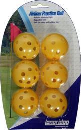 AIRFLOW BALLS YELLOW 6 PK, tréninkové míèky