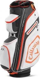 Callaway Chev 14+ Cart Bag White/Charcoal/Orange