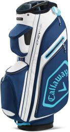 Callaway Chev 14+ Cart Bag White/Navy/Light Blue