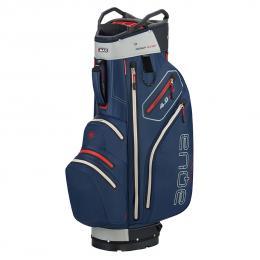 Big Max Aqua V-4 Cart Bag NAVY/SILVER/RED