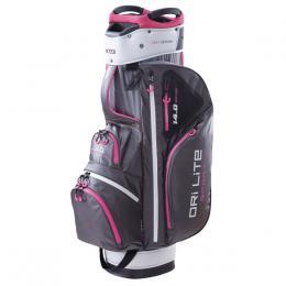 Big Max Dri Lite Sport Cart Bag CHARCOAL/SILVER/FUCHSIA