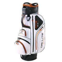 Big Max Dri Lite Sport Cart Bag WHITE/BLACK/ORANGE