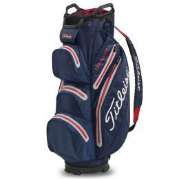 Titleist StaDry Cart Bag NAVY/SLEET/RED
