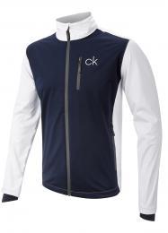 Nepromokavá bunda Calvin Klein WHITE/NAVY, velikost M, XL, XXL