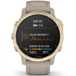 Garmin fenix6S PRO Solar, LightGold/Sand Band (MAP/Music)